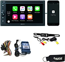 Sony XAV-AX200 CD/DVD Receiver with SiriusXM, BT, compatible with Apple CarPlay, AndroidAuto, Steering Interface, Camera