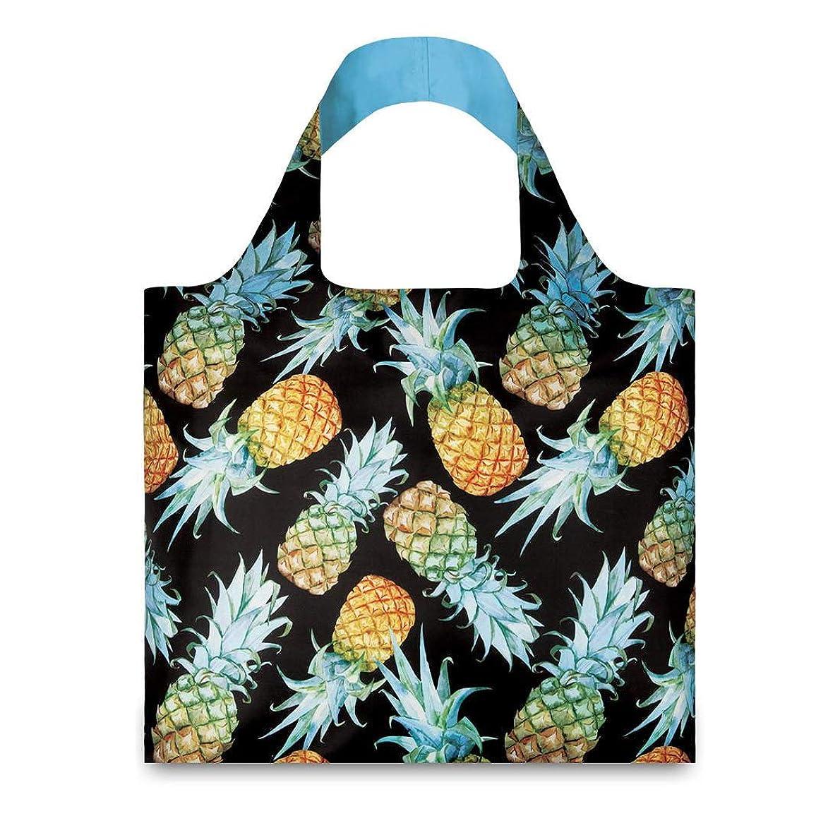 縫い目ストッキング韻(ローキー)LOQI 折りたたみ エコバッグ ポーチ付き JUICY Pineapple