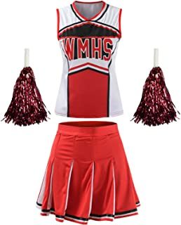 OurLore Women's High School Musical Cheerio Classic Cheerleader Athletic Sport Uniform Fancy Dress