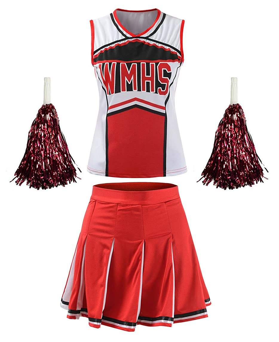 OurLore Women's High School Musical Cheerio Classic Cheerleader Athletic Sport Uniform Fancy Dress