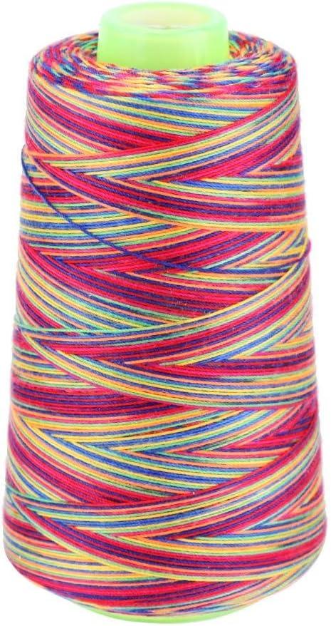 Whitelotous Mail order cheap Rainbow Polyester Sewing Department store Cr Textile Metallic Threads