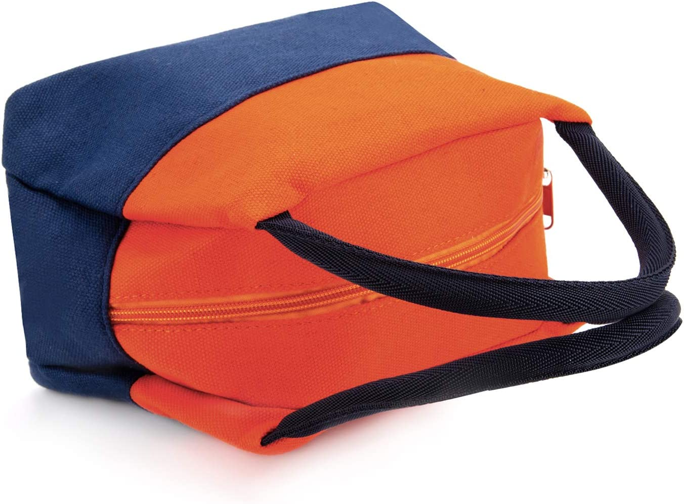 Ulela Lunch Bag Tote Bag for Women Wide Open Cooler Bag Thermal Leak-Proof Lunch Organizer For Men Girls Children Outdoor Picnic Work Contrast Color(orange and blue)