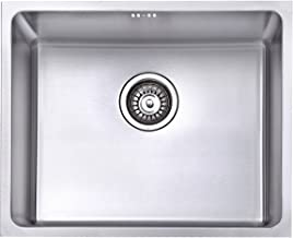 JASS Ferry - Fregadero de cocina de acero inoxidable, 1 seno cuadrado profundo con filtro