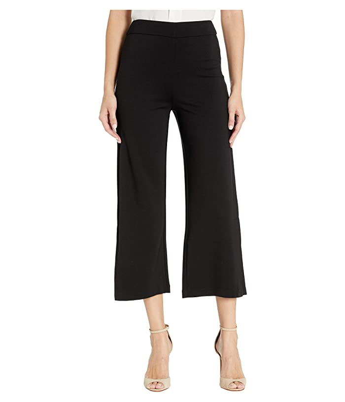 Lysse Flare Slit Crop Ponte Pants (Black) Women