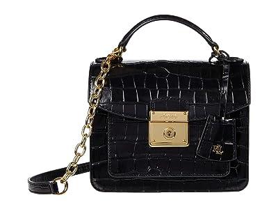 LAUREN Ralph Lauren Beckett 19 Crossbody (Black) Handbags