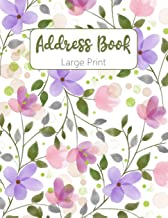 Address Book A-Z Index: Ladies Address Book Large Print : Address Book Large Print For Seniors : Telephone Address Book Big Print : Records Name 32 Phone E-Mail Address With Note Section Address