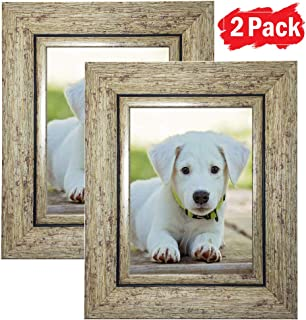 DY Frame 6x8 Picture Frame Bronze Brown Rustic Home or Office Decor   Vertical or Horizontal Tabletop Stand or Wall Mounting   Baby, Pet, or Family Photos, Diploma