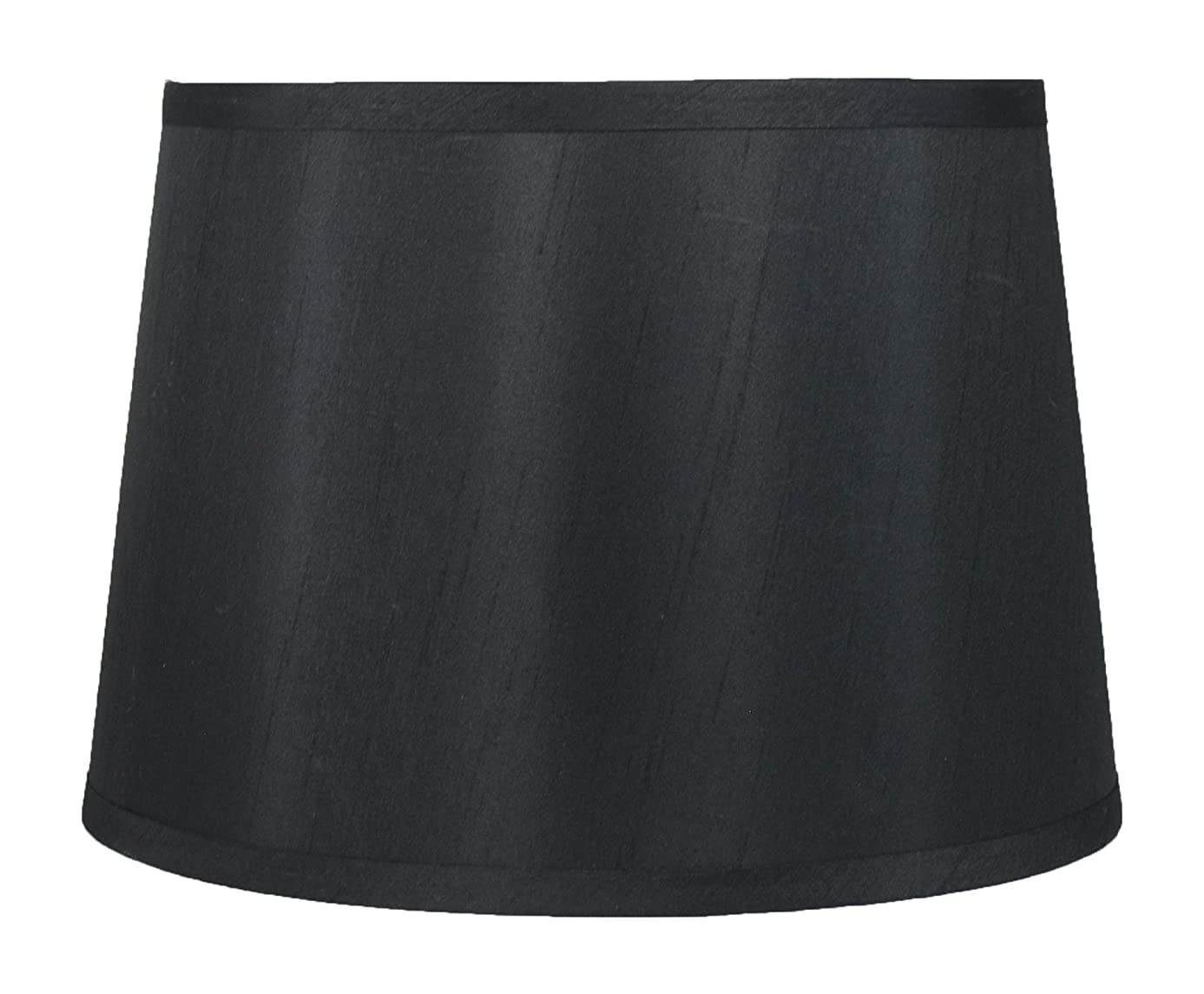 Urbanest French Drum Lampshade, Faux Silk, 10-inch by 12-inch by 8.5-inch, Black, Spider