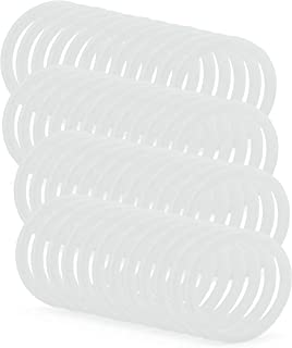 Cornucopia Silicone Seal Rings for Plastic Mason Jar Lids (Wide Mouth, 48-Pack)