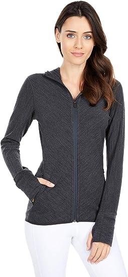 Descender Merino Long Sleeve Zip Hooded Jacket