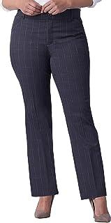 LEE Women's Plus Size Flex Motion Regular Fit Straight Leg Pant