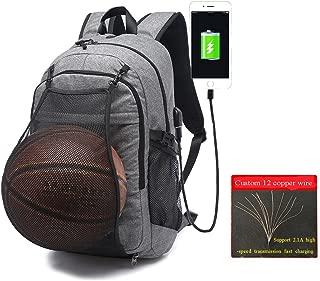 Basketball Sports Backpack, Large College School student Backpack for Men Women