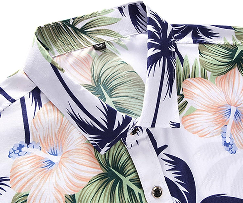 FORUU Mens Button Down Shirts 2021,Long Sleeve Shirts Slim Fit Printed Lapel Shirts Elegant Casual Shirt Dress Shirt