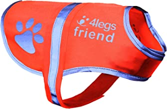 Dog Safety Reflective Vest 5 Sizes to fit dogs 10 lbs -130 lbs : High Visibility for Outdoor Activity Day and Night, Keep Your Dog Visible, Safe From Cars & Hunting Accidents   Blaze Orange vest