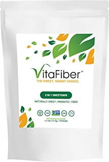 VitaFiber IMO Powder - Prebiotic Fiber Sugar-Free Sweetener – Alternative Sugar Substitute - 2.2 lbs