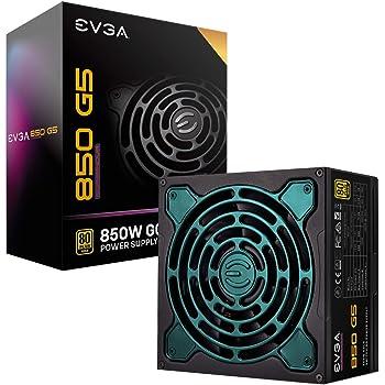 EVGA Supernova 850 G5, 80 Plus Gold 850W, Fully Modular, ECO Mode with Fdb Fan, 10 Year Warranty, Compact 150mm Size, Power Supply 220-G5-0850-X1