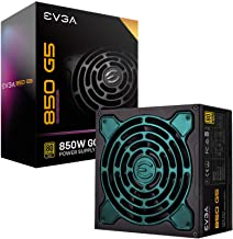 EVGA 220-G5-0850-X1 Super Nova 850 G5, 80 Plus Gold 850W, Fully Modular, ECO Mode with Fdb Fan, 10 Year Warranty, Compact ...