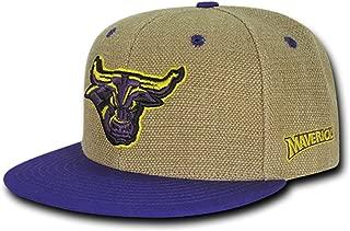 University of Minnesota State Mankato Mavericks Structured Flat Bill Jute Baseball Ball Cap Hat