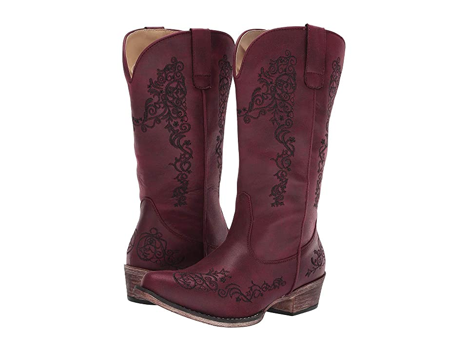 Roper Judith (Vintage Red Faux Leather) Cowboy Boots