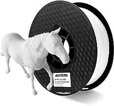Filament pla 1.75mm Meterk 3d Filament Pla 1kg bobine Blanc, +/- 0.02 mm pour Imprimante 3D ou 3D Stylo