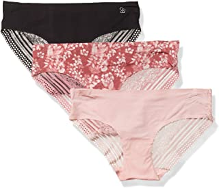 Jessica Simpson Women's Seamless No Show Hipster Panties Underwear Multi-pack