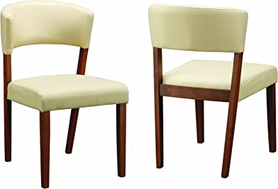 Paxton Upholstered Dining Chairs Cream and Nutmeg (Set of 2)
