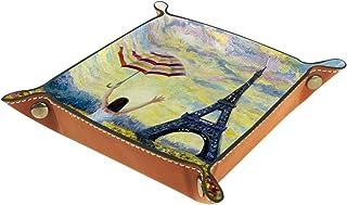 Vockgeng Peinture à l'huile Belle Boîte de Rangement Panier Organisateur de Bureau Plateau décoratif approprié pour Bureau...