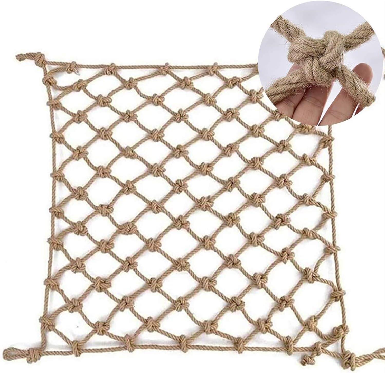 Hemp Rope Net Max 55% OFF Balcony Protective Anti-Fall Oklahoma City Mall Child - Netting