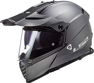 LS2 MX436 Pioneer Evo Motocross Helm Titan Matt XXXL 64/65