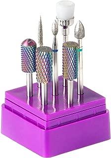 Nail Drill Bits - Nail Drill Bits for Acrylic Nails BTArtbox Efile Nail Drill Bits 7pcs 3/32 inch Carbide Nail Drill Bits Set