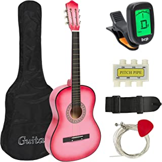 Best Choice Products 38in Beginner Acoustic Guitar Starter Kit w/Case, Strap, Digital..