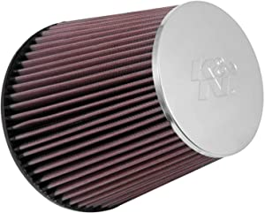 K&N Universal Clamp-On Air Filter: High Performance, Premium, Washable, Replacement Filter: Flange Diameter: 3.875 In, Filter Height: 7 In, Flange Length: 1.5 In, Shape: Round Tapered, RF-1029