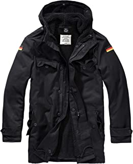 Men Parka BW Flag