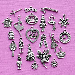 The Nutcracker Ballet Collection 22 Charms Antique Silver Tone Jewelry Making Supply Pendant Bracelet DIY Crafting by Wholesale Charms