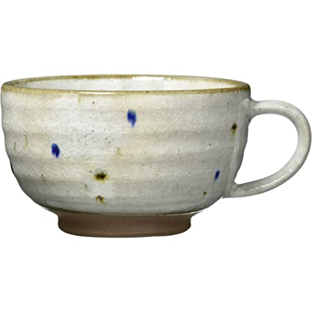 美濃焼 スープカップ 二色水玉