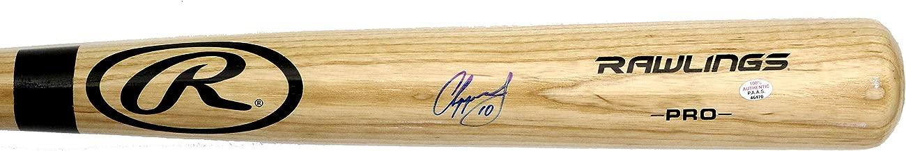 Chipper Jones Atlanta Braves Signed Autographed Rawlings Pro Natural Bat PAAS COA