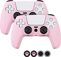 2 Pack Silicone PS5 Controller Cover, LENDOUBLE Durable Soft Protective Skin Accessories Compatible with Sony Playstation ...