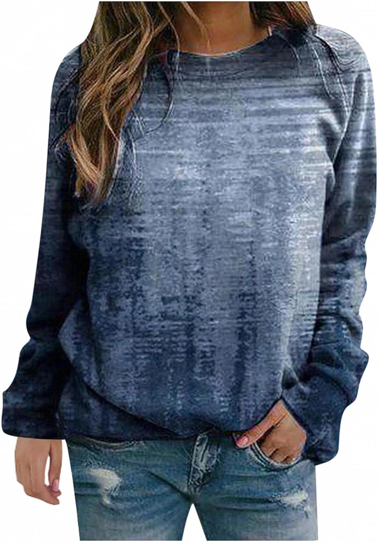 POLLYANNA KEONG Sweatshirt for Women,Women Crewneck Sweatshirt Casual Loose Vintage Basic Tees Tunic Shirts Tops