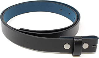 Thin Leather Belt Strap with Smooth Grain Finish 1