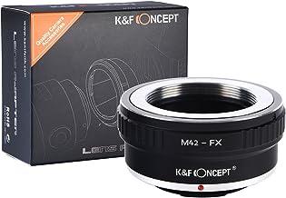 [正規代理店]K&F M42マウント-フジX FX マウントアダプターレンズクロス付 m42-fx (KFFX)