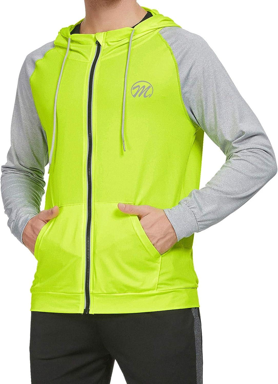 Trainingsjacke Atmungsaktiv Laufjacke Langarm Sport Jacket Langarmshirt Sweatjacke Joggingjacke f/ür M/änner MEETWEE Sportjacke Herren