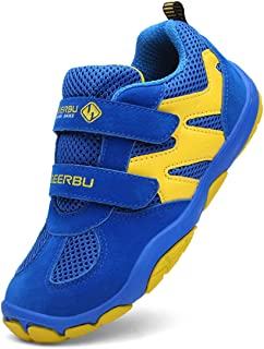 yellow and blue tennis shoes