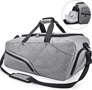 0daeed93b759 Gym Bag Sports Duffle Bag with Shoes Compartment Waterproof Large Travel  Duffel Bags Weekender Overnight Bag