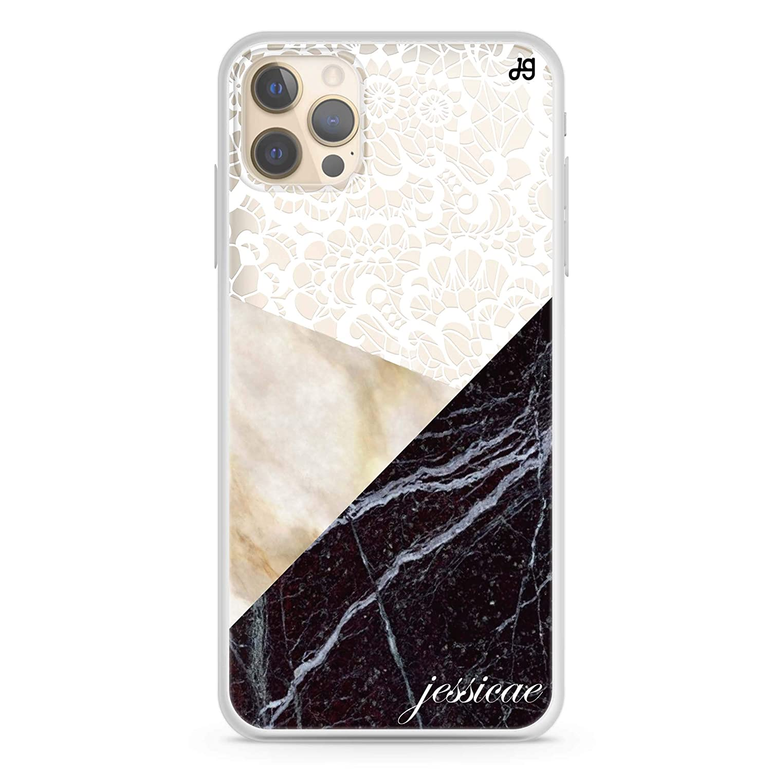 Marble Lace iPhone 12 Pro Case Clear Soft OFFicial shop Oklahoma City Mall Max