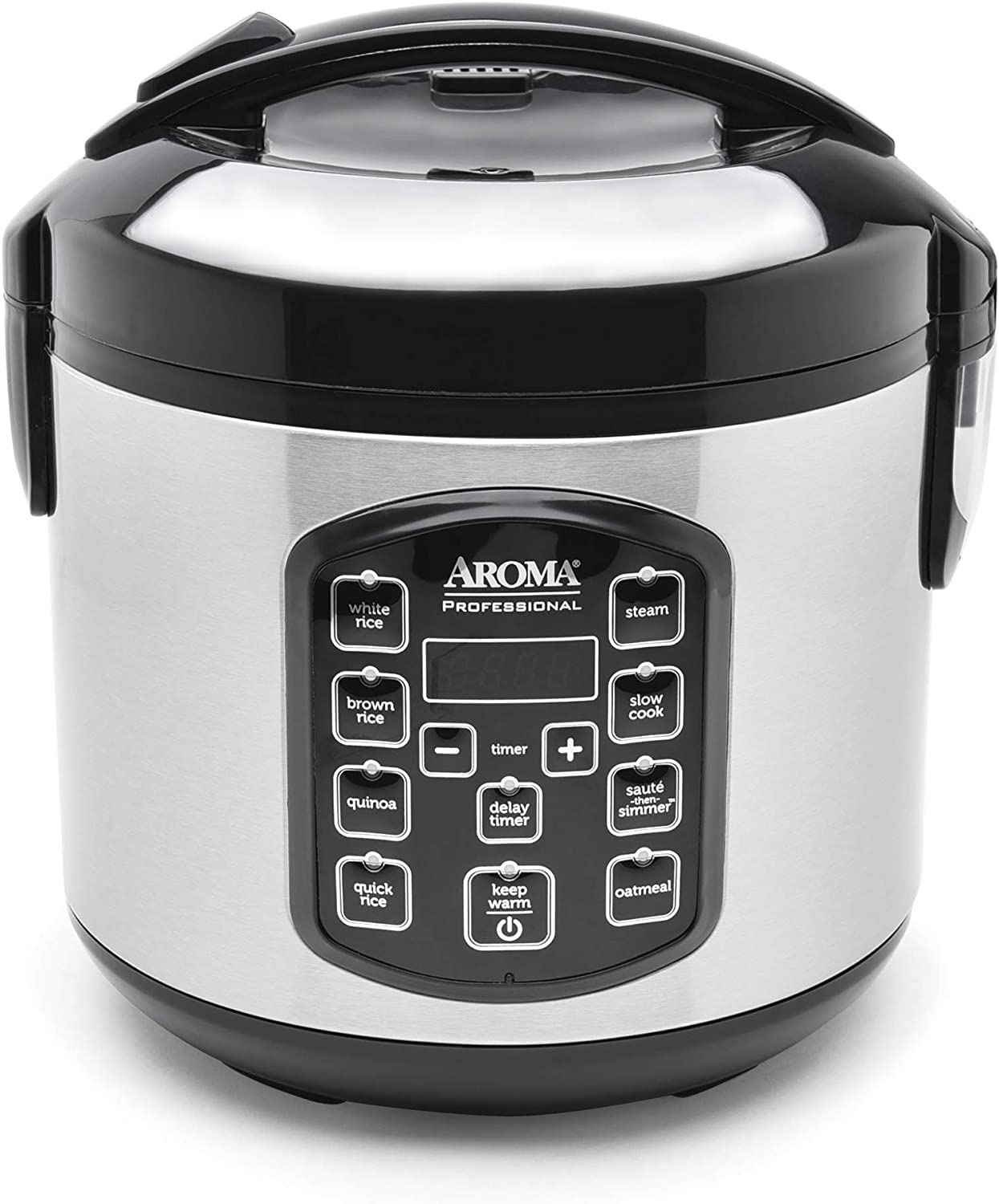 Aroma Housewares ARC-954SBD Sales Rice Cooker Chicago Mall 4-Cup Uncooked 2.5 Quar