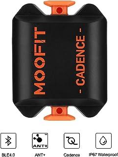 moofit Sensor de Cadencia de Ciclismo con Bluetooth & Ant+ Medidor de Cadencia pedaleo de Bicicleta Impermeable IP67 para Wahoo Endomondo Zwift iCardio para iOS, Android