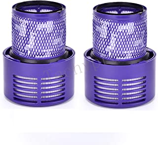 Techypro 2-Pack Replacement Parts V10 Filter for Dyson Cyclone V10 Animal/Absolute/Motorhead/Total Clean, Compare to Part # 969082-01
