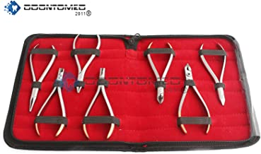 OdontoMed2011 7 PCS ORTHODONTIC PLIERS ASSORTED T/C DISTAL CUTTER SET KIT ORTHODONTIC INSTRUMENTS