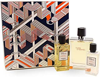 Hermes Terre Dhermes by Hermes for Men - 3 Pc Gift Set 3.3oz EDT Spray, 2.7oz Hair and Body Shower Gel, 1.35 After Shave Lotion, 3 count