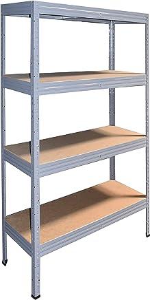 Steckregal 90x70x30 cm weiß 3 Böden Kellerregal Lagerregal Metallregal Schwerlas